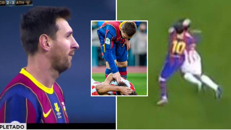 Fans Hilariously Spot What Lionel Messi Did To Asier Villalibre After Red  Card Incident
