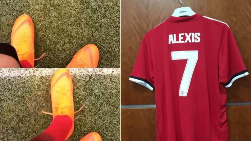 Alexis Sanchez Manchester United Away Jersey