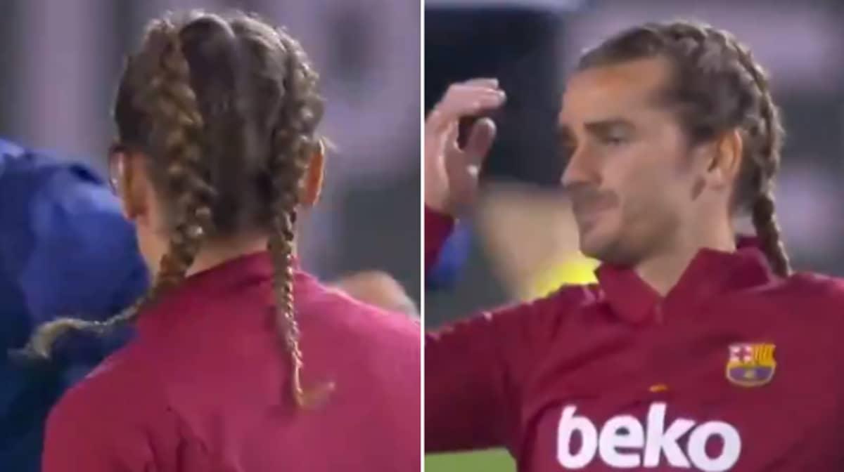 Barcelona Forward Antoine Griezmann Now Has Braids In His Hair
