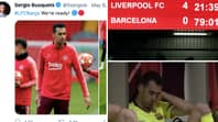 Barcelona's Sergio Busquets Hasn't Tweeted Since 'We're Ready' Post Prior To Liverpool Collapse At Anfield