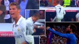 Cristiano Ronaldo's Outburst Following Lionel Messi's Winner Vs Madrid Is A Legendary Breakdown