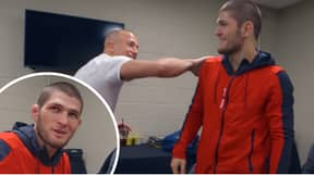 A 'Shy' Khabib Nurmagomedov Was 'Starstruck' When He Met His Idol Georges St-Pierre