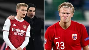 Arsenal Fans Reckon They'll Sign Erling Haaland After Image Of Him Doing 'Pepe's Celebration' Emerges Online