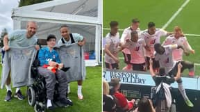 Fulham Players Climb Into Crowd To Celebrate Goal With 13-Year Old Fan Rhys Porter