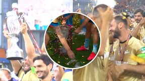 Branislav Ivanovic Drops And Breaks Glass Russian Cup Trophy During Wild Celebrations