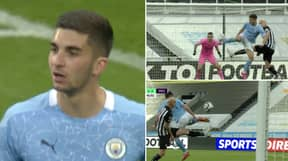 Ferran Torres Produces Outrageous Acrobatic Finish Vs Newcastle United