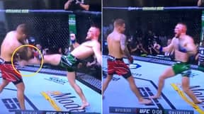 The Exact Moment Conor McGregor Compromised His Leg Before Gruesome Break