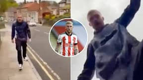 Oli McBurnie Filmed 'Punching And Kneeing' A Man And Stamping On His Phone In Shocking Altercation