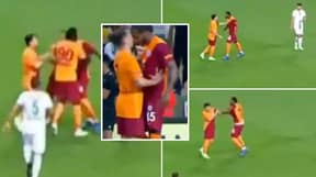 Galatasaray Superstar Sent Off For Punching His Own Teammate
