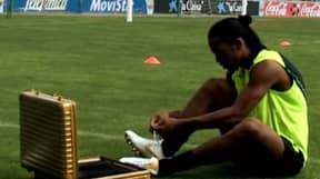 The Time Ronaldinho Broke The Internet With Crossbar Challenge