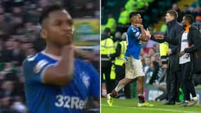 Alfredo Morelos Appears To Make Throat-Slitting Gesture Towards Celtic Fans