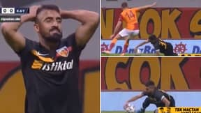 Mugdat Celik Gives Away Penalty And Gets Sent Off Vs Old Club Galatasaray