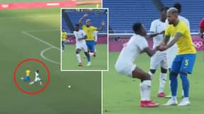 Douglas Luiz's Red Card At Tokyo Olympics Branded 'The Worst VAR Call Ever'