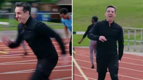 Gary Neville Pulled His Hamstring In Race Against World Champion Sprinter