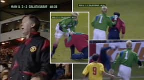 Peter Schmeichel Once Did A Steward's Job And Taught Galatasaray PItch Invader A Lesson