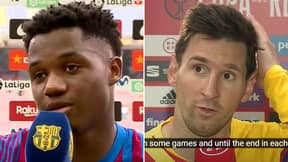 Ansu Fati Sounds Exactly Like Lionel Messi In Post-Match Interview, Fans Are Amazed