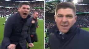 Steven Gerrard Erupts And Screams At Camera After Rangers Beat Celtic In Old Firm Derby