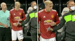 Donny Van De Beek Thought The Fourth Official Was Handing Him A Note