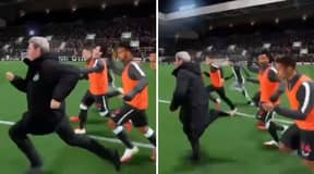 Steve Bruce Outpaces Newcastle Squad In Amazing FIFA 22 Clip