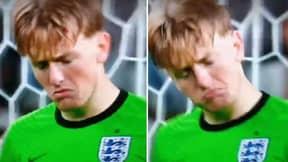 Jordan Pickford Caught On Camera Speaking To Himself Before Saving Jorginho's Penalty Last Night