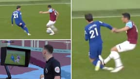 VAR Review Sees West Ham's Fabian Balbuena Controversially Sent Off For Challenge On Chelsea's Ben Chilwell