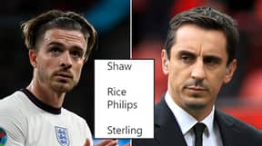 England Fans Can't Believe The Team Gary Neville Would Pick For Germany Match