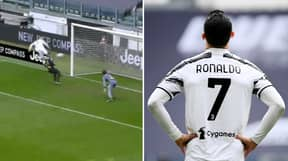 Cristiano Ronaldo's Miss From Two Yards Out Turned Into An Assist