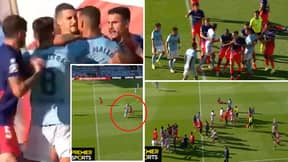 Atletico Madrid And Celta De Vigo Players Clash In Heated Altercation After Challenge On Luis Suarez