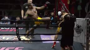 Muay Thai Fighter Steve Walker Knocks Out Opponent With Acrobatic Tornado Kick