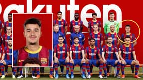 It Looks Like Philippe Coutinho Has Been Photoshopped Into Barcelona's Official Team Picture