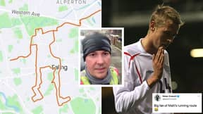 Lad Draws Peter Crouch In Incredible 23km Lockdown Running Challenge