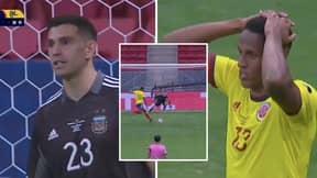 Emiliano Martinez Got In Yerry Mina's Head Before Saving Colombian's Penalty