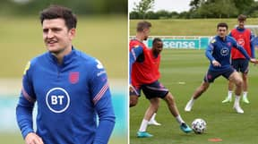 Harry Maguire Returns To England Training Ahead Of European Championship Opener Against Croatia