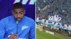 Zenit Fans Protest At Malcom Signing With Horrific Racist Banner