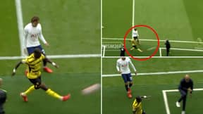 Fans Are Convinced Moussa Sissoko Blasted The Ball At Nuno On Purpose Following Transfer