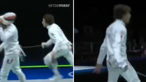 Olympic Fencer Performs Cristiano Ronaldo's Trademark 'SIUU' Celebration After Win