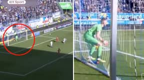 Watch: The Incredible Moment A Real Life FIFA Glitch Occurs In German Game