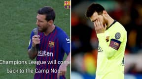 Lionel Messi's Champions League Speech From August Resurfaces After Liverpool Loss