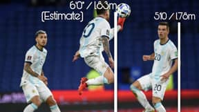 Lionel Messi Controlled The Ball At An Estimated Height Of 1.83m Vs Paraguay