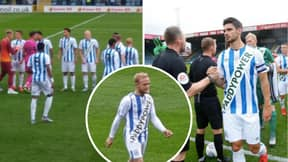 Huddersfield Are Wearing Paddy Power Sponsored Home Kit For The First Time