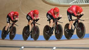 Question Marks Over Danish Cycling Team After Every Rider Is Spotted With The Exact Same Medical Tape