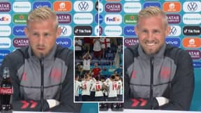 Kasper Schmeichel Gives Savage Response To 'It's Coming Home' Question In Press Conference