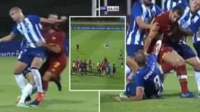 Pepe Caused A Mass Brawl In Pre-Season Game Vs Roma With Challenge On Henrikh Mkhitaryan