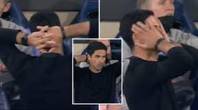 Mikel Arteta's Reaction To Dani Ceballos Being Sent Off Sums Up Arsenal's Night