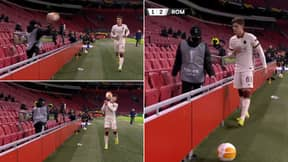Ajax Ball Boy Savagely Launches Ball At AS Roma Player For Time Wasting