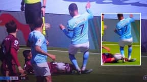 Fans Question Why VAR Wasn't Used To Look At Raheem Sterling Challenge During Manchester City V Leeds Clash