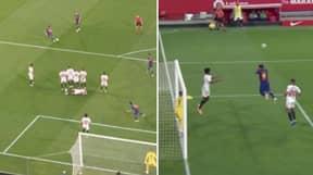 Sevilla Used FIFA Tactics To Defend Lionel Messi's Free Kick