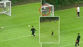 Kepa Arrizabalaga Mastered The Crossbar Challenge By Hitting It EIGHT Times In A Row During Chelsea Training