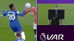 Manchester United Denied Penalty By VAR For Callum Hudson-Odoi Handball