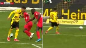 Jadon Sancho's Brilliant Back Heel Leads To Winning Goal For Himself